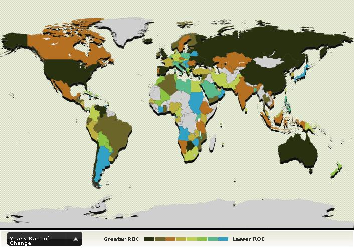 public debt rate of change